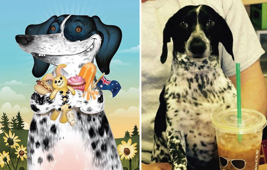 10 Pet Portraits Inspired By How Their Owners Describe Them