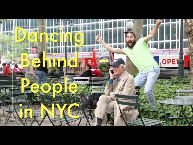 Guy Dancing Behind Unsuspecting People In NYC Will Have You Cracking Up