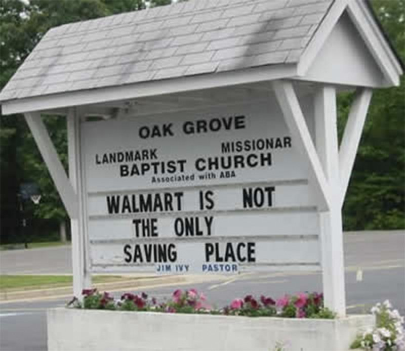 10 Of The Funniest Church Signs Ever