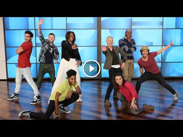 First Lady Michelle Obama Dances To 'Uptown Funk' With Ellen DeGeneres