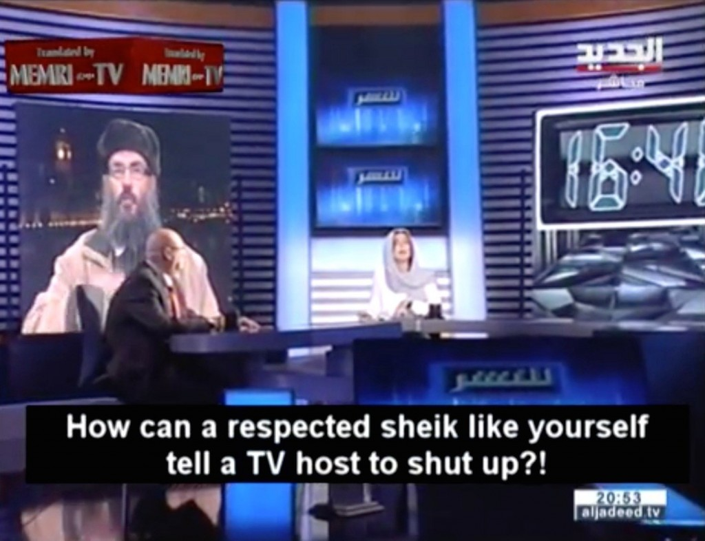 Humiliated, Lebanese TV Presenter Snaps Radical Cleric