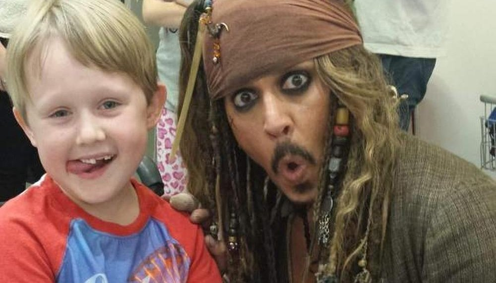 Johnny Depp Makes Surprise Visit To Children's Hospital In-Character