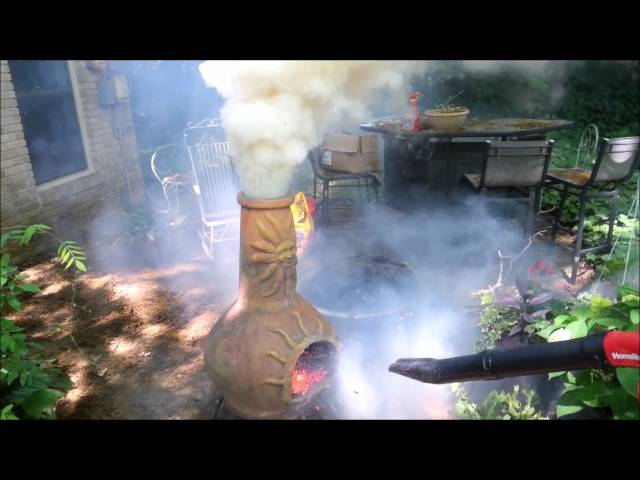 Leafblower Used On Chiminea To Create Makeshift Volcano, Mom's Not Happy
