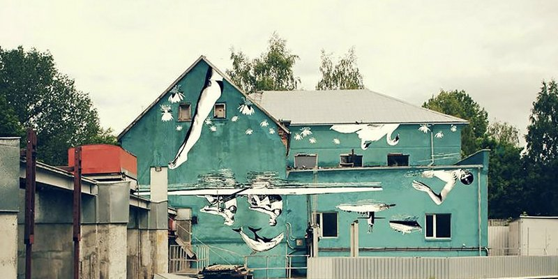 This Mural Masterpiece Was Painted Upside-Down For A Purpose