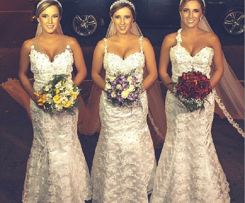 Three Identical Sisters From Brazil All Got Married On Same Day