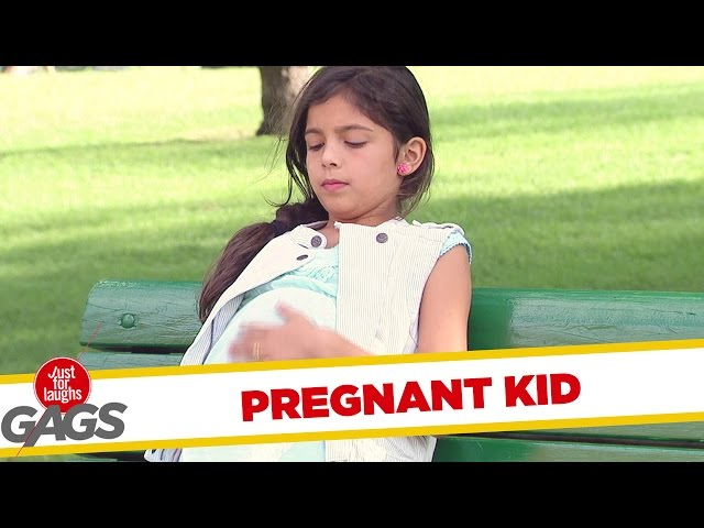 Watch This Hilarious Prank Of A Pregnant Little Girl