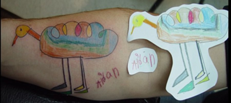 10 Brave Parents Who Got Their Kid's Art Tattooed