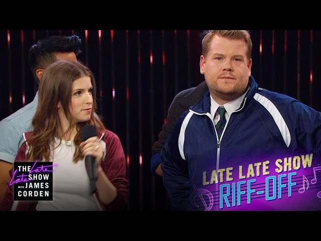 Anna Kendrick And James Corden Do A Live A Cappella Riff-Off