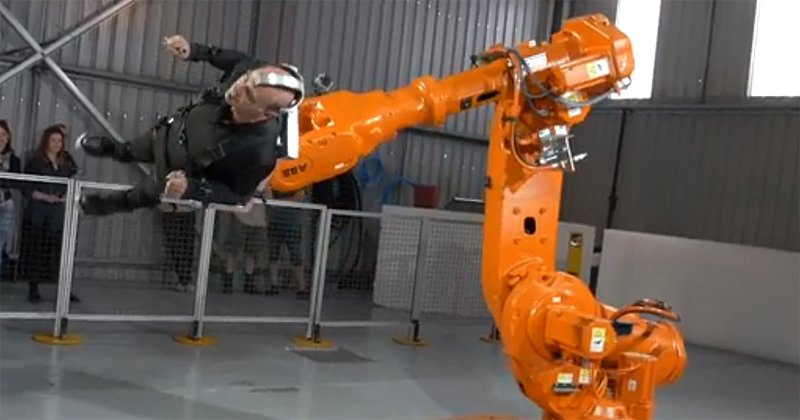 Australian Professor Willingly Gets Flung By A Robot Arm