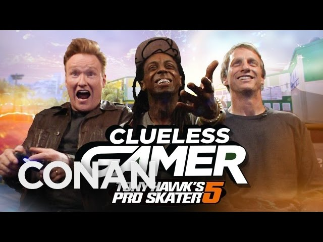 Conan And Lil Wayne Play Tony Hawk's Pro Skater 5