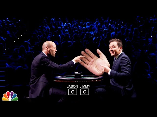 Jimmy Fallon Duels Jason Statham With Blackjack And Big Hands