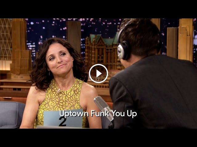 Julia Louis-Dreyfus Plays The Whisper Challenge On The Tonight Show With Jimmy Fallon