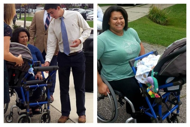 Teen Creates Wheelchair Stroller For Disabled Mother