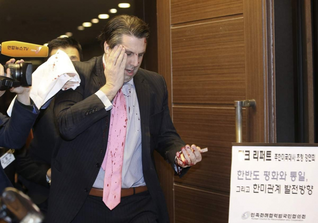 U.S. Ambassador Attacked in South Korea By Blade-Wielding Assailant