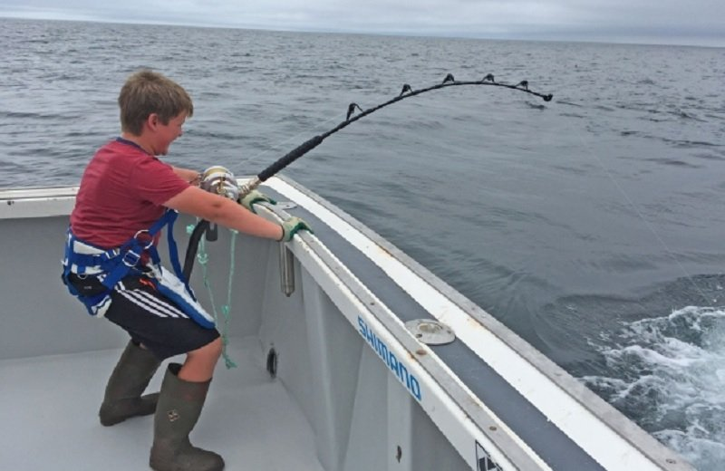 10-Year-Old Boy Catches Enormous Tuna In Canada