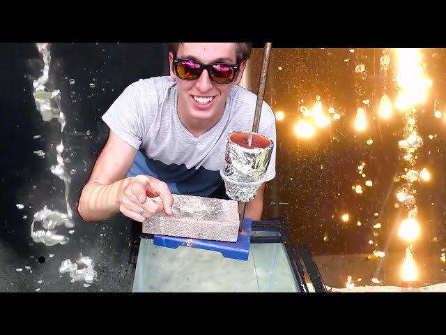 Amazing Video Shows Molten Metals Poured Into Water
