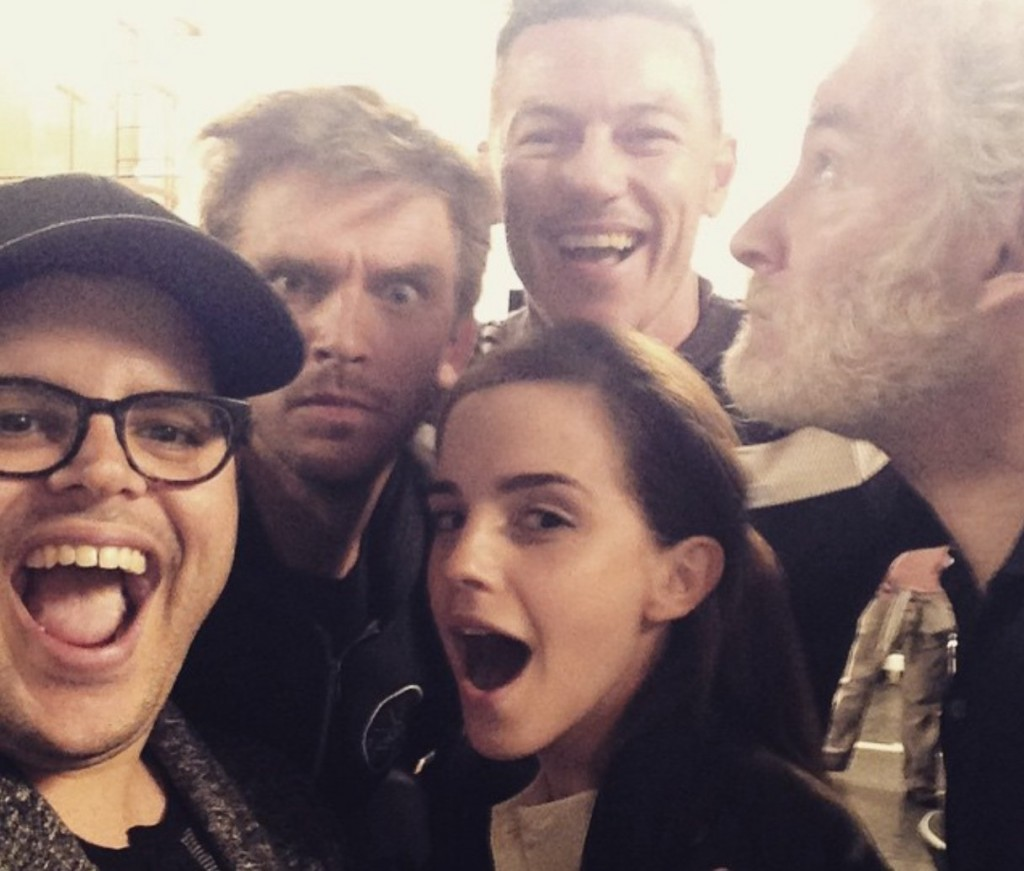 Beauty And The Beast Cast Looking Excited On Instagram