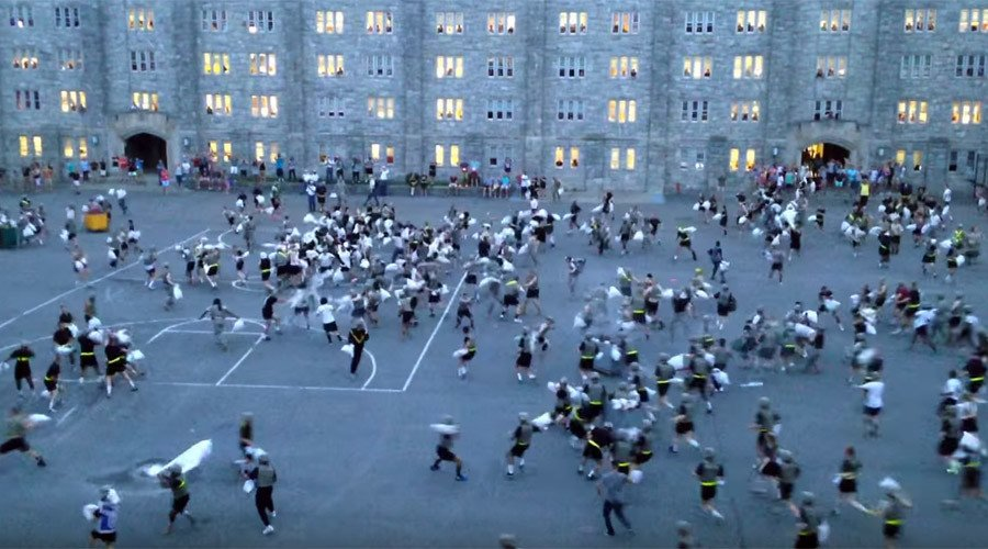 Military Academy Cadets Injured In Massive Pillow Fight