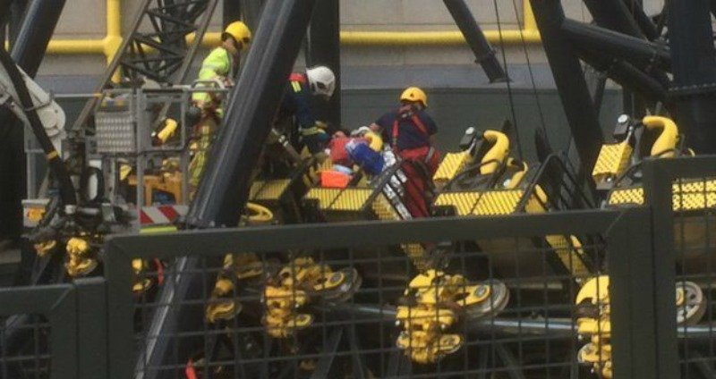 Shocking Roller Coaster Crash Injures Four