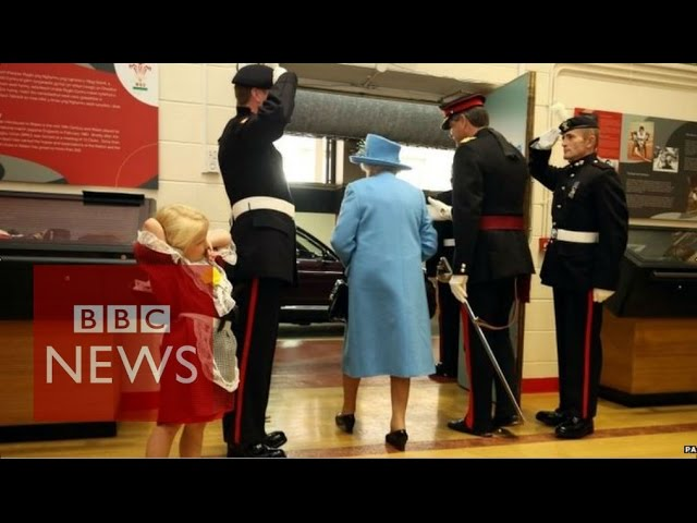 Soldier Hits Child In The Face While Saluting The Queen