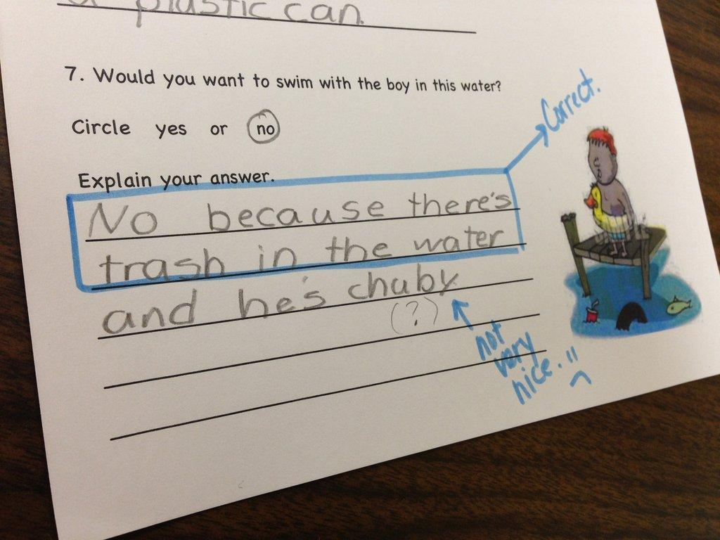 Ten Hilarious Homework Answers From Kids