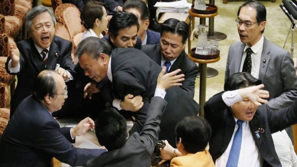 Japanese Politicians Brawl As They Debate Pacifism Law