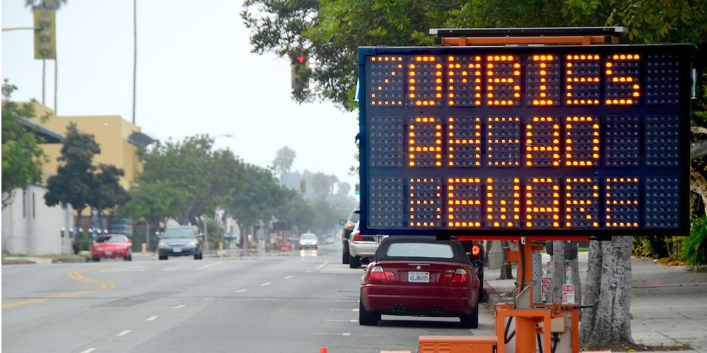 Prankster Hacks Electronic Road Sign To Show Fake Warnings